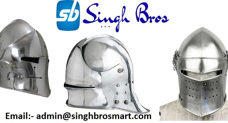 Antique Medieval Barbuta helmets For Sale SinghBros Mart