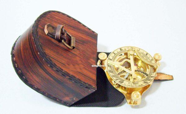 Brass Sundial Compass Maritime Vintage Compass Nautical 5