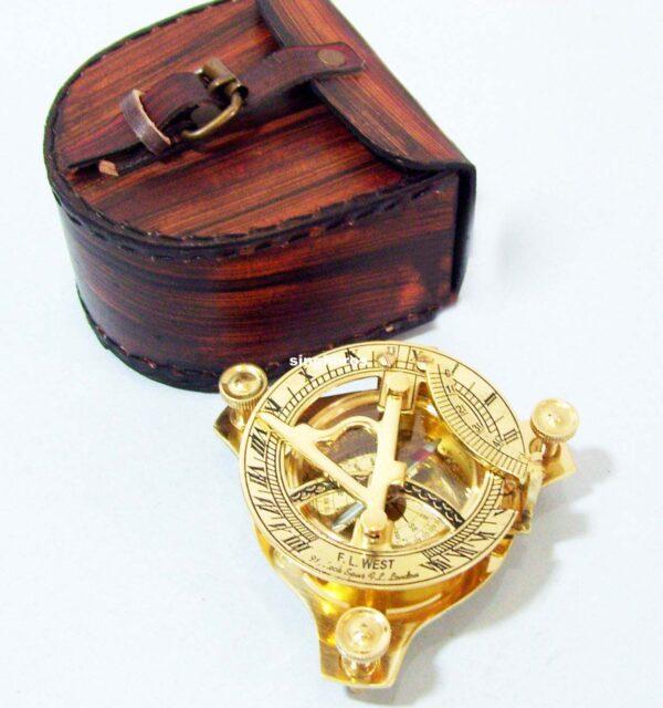 Brass Sundial Compass Maritime Vintage Compass Nautical 4