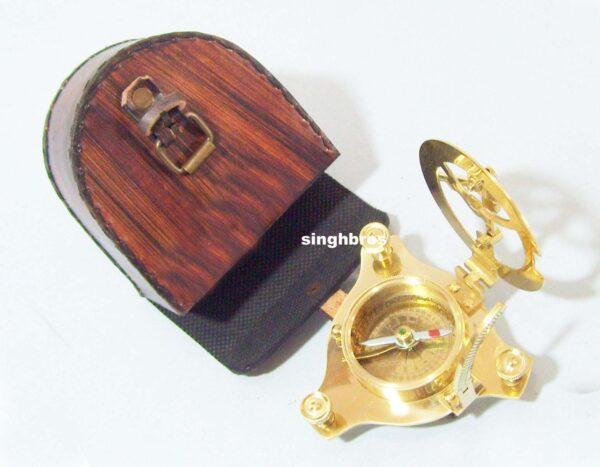 Brass Sundial Compass Maritime Vintage Compass Nautical 1