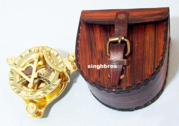 Brass Sundial Compass Maritime Vintage Compass Nautical 3