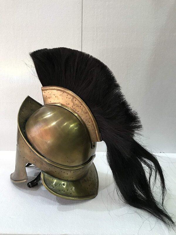 Spartan Medieval 300 Helmet Armor With Black Plume Free Halloween Gift