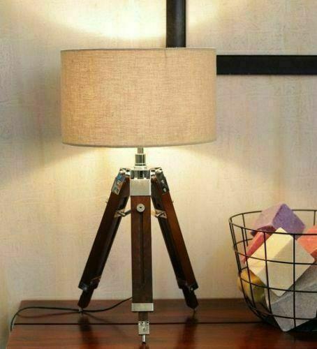 Nautical Beautiful Shade Lamp Table Tripod Stand, Home Decor