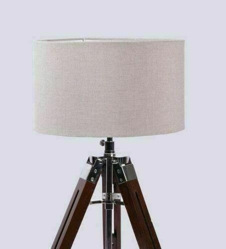 Nautical Beautiful Shade Lamp Table Tripod Stand Home Decor 2