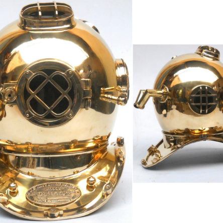 Nautical Sea Marine Diver Helmet Antique Diving Sailor Brass Helmet Collectible