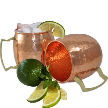 Copper HandCrafted Hammered Moscow Mule Copper Mugs Set of 3 Copper