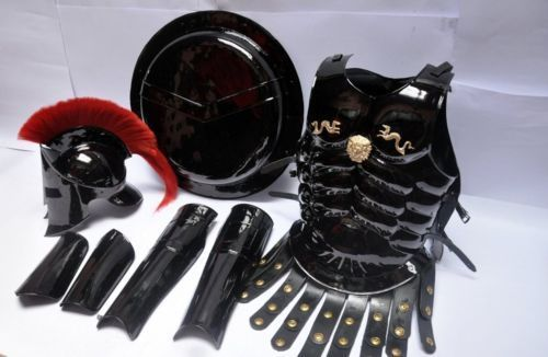 Armor Shield 300 Medieval King Roman Spartan Helmet With Muscle Jacket Set 1