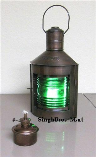 ship lantern, Nautical Spot light Table Lamp, vintage port and starboard lamps, antique ship lantern, ship lantern lamp