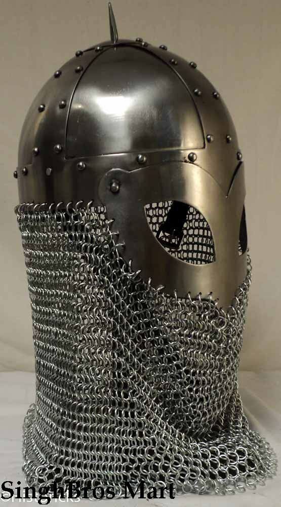 Viking Helmet with chainmail Medieval  Knight Battle Armor Costume Helmet 2