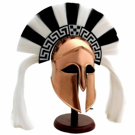 Medieval Greek Corinthian Roman knight Spartan Helmet with Chrest