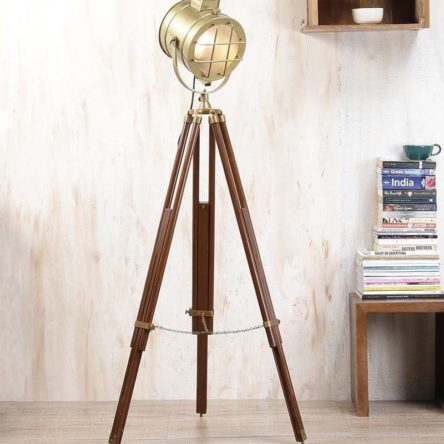 Vintage Spot light Theater Home Decorative Tripod Search light lamp