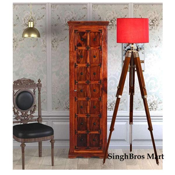 Antique Beautiful Shade Lamp Tripod Stand Home Decor 1