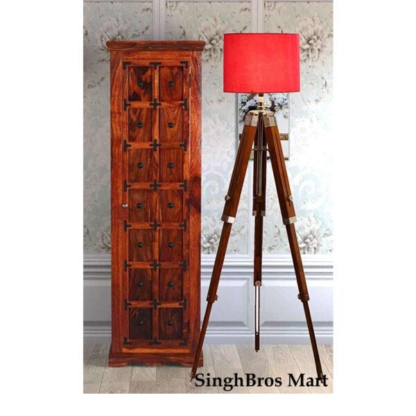 Antique Beautiful Shade Lamp Tripod Stand Home Decor 2