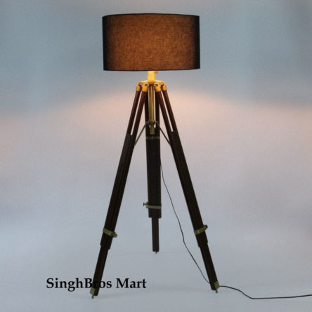 Nautical Beautiful Shade Lamp Table Tripod Stand Home Decor