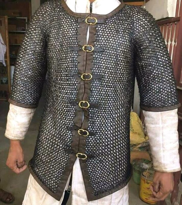 Armor ChainMail shirt, Medieval Chain Mail shirt Armor, ChainMail Hood Chain Mail Full Shirt