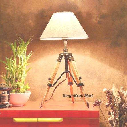 Nautical LED Table Lamp & Tripod Stand Home Decor